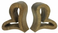 YP03: Wooden Bookends - Heart  (Pack Size 6)